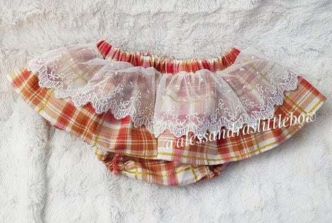 Pumpkin Spice Lace skirted Bloomers