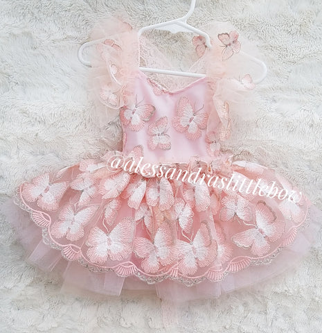 Blush Butterfly Whimsical Romper