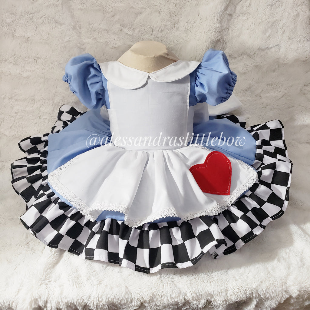 Alice in Wonderland Vintage Couture Dress