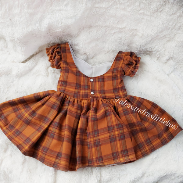 Autumn Plaid Sweetheart Violette Pinafore