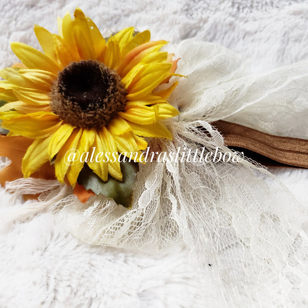 Sunflower Boho Headband