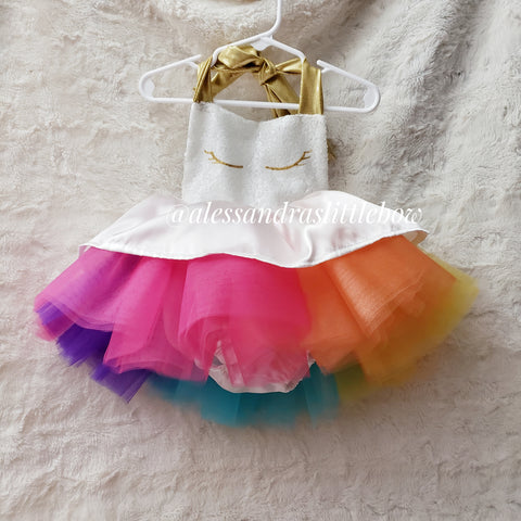 Unicorn Luxury tutu romper