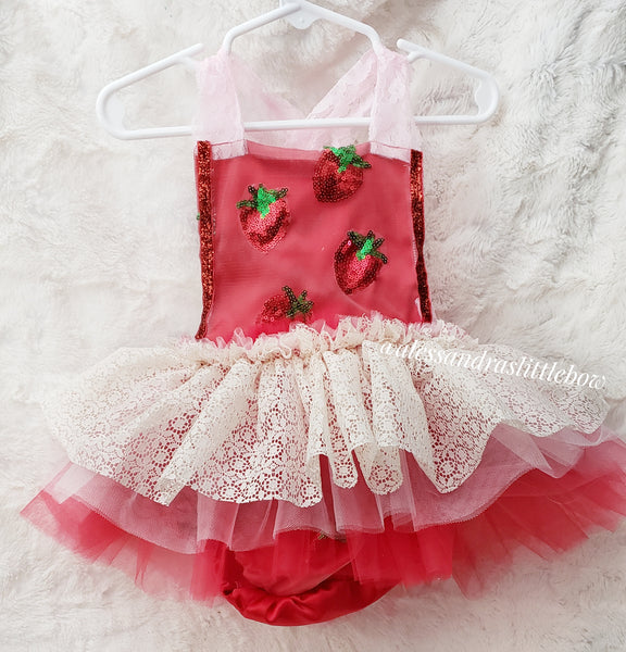 Strawberry shortcake Whimsical Romper