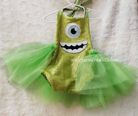 Mike Monsters Inc Tutu Romper