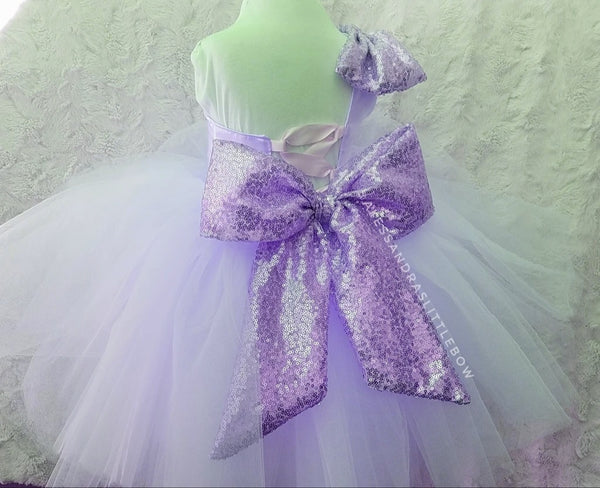 Brielle Couture Dress in Lavender