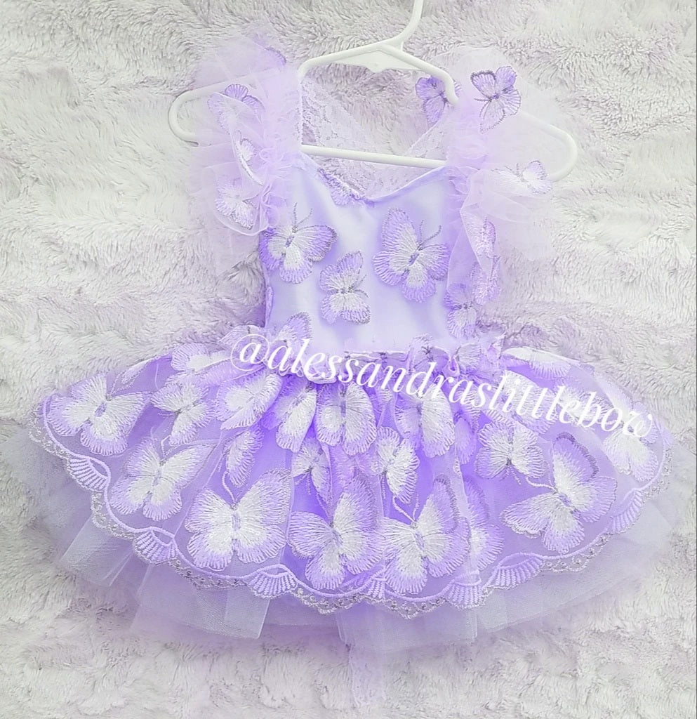 Lavender Butterfly Whimsical Romper
