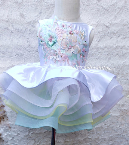 Princess Brianna Couture Dress (Floral adorn)