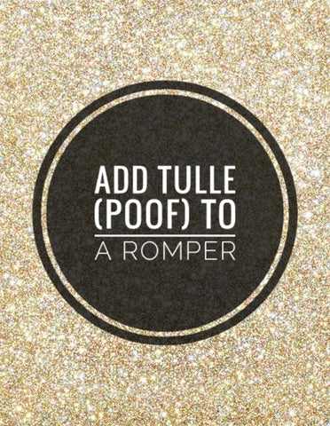 Add Tulle to a Romper - AlessandrasLittleBow