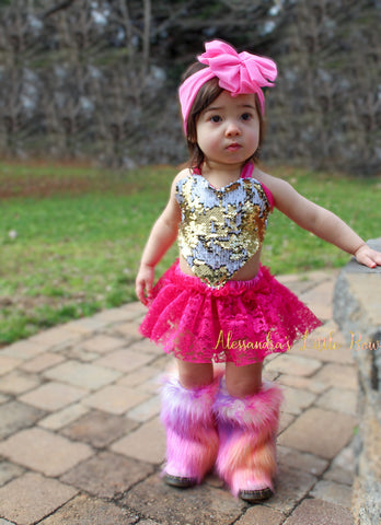 Love Romper in Fuschia - AlessandrasLittleBow