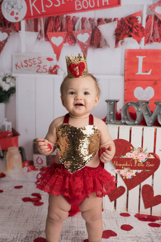 Love Romper in Red - AlessandrasLittleBow