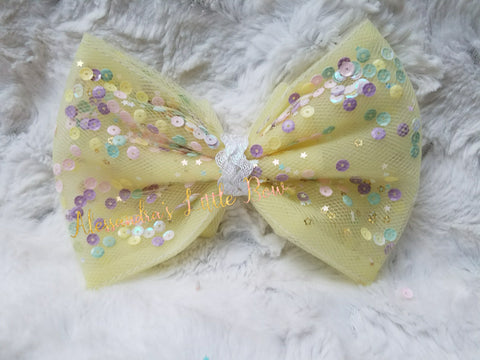 Pastels Confetti Bow - AlessandrasLittleBow