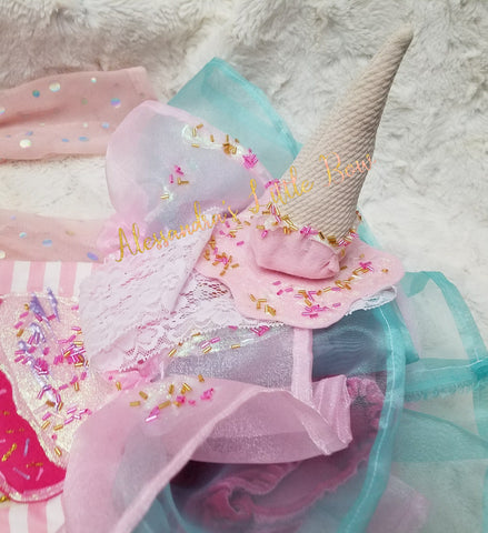 Ice cream cone headband - AlessandrasLittleBow