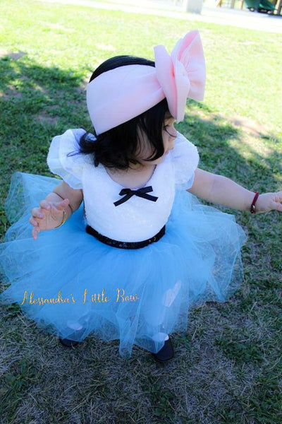 Alice in Wonderland Romper - AlessandrasLittleBow