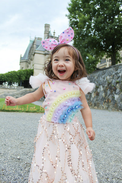 Magical Rainbow Top - AlessandrasLittleBow