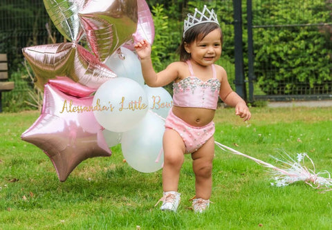 Bejeweled Princess Pink Set - AlessandrasLittleBow