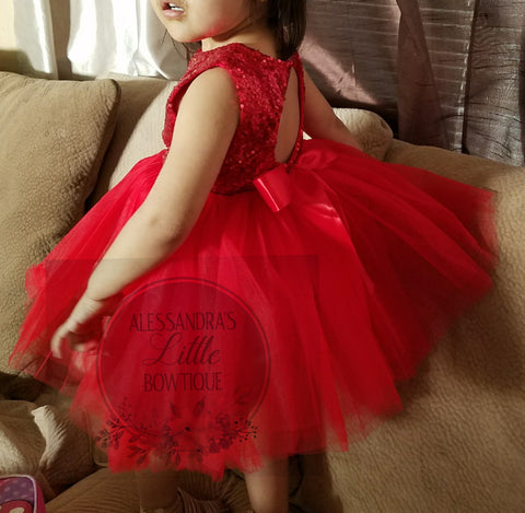 Brielle dress in red - AlessandrasLittleBow