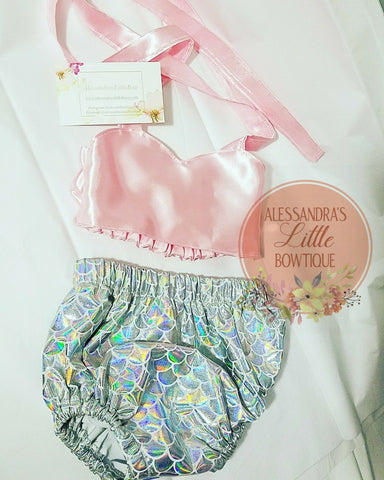 Mermaid princess 2 piece set - AlessandrasLittleBow