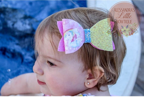 Over the Rainbow Classic glitter bow