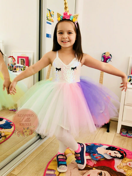 Sweet Unicorn couture dress - AlessandrasLittleBow