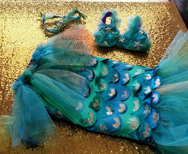 Mermaid Princess Deluxe Outfit - AlessandrasLittleBow