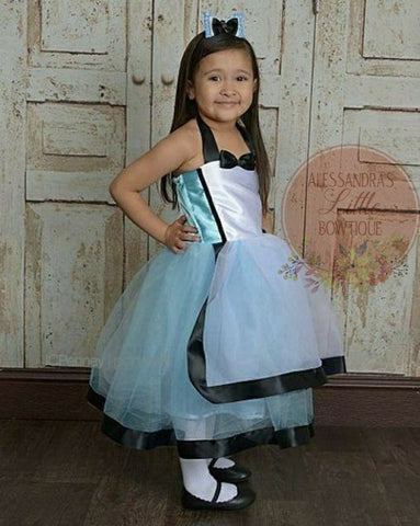 Alice in wonderland couture dress - AlessandrasLittleBow