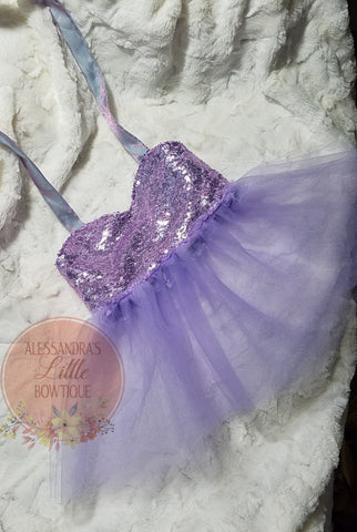 Sweetheart cropped top with sheer tutu