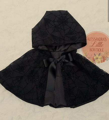 Halloween Cape with Hood - AlessandrasLittleBow