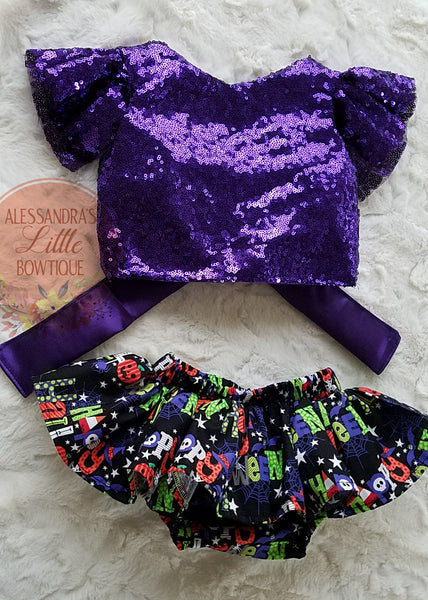 Happy Halloween Sequin Set - AlessandrasLittleBow