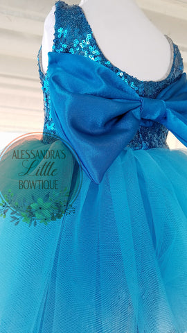 Princess Dress in Turquoise - AlessandrasLittleBow