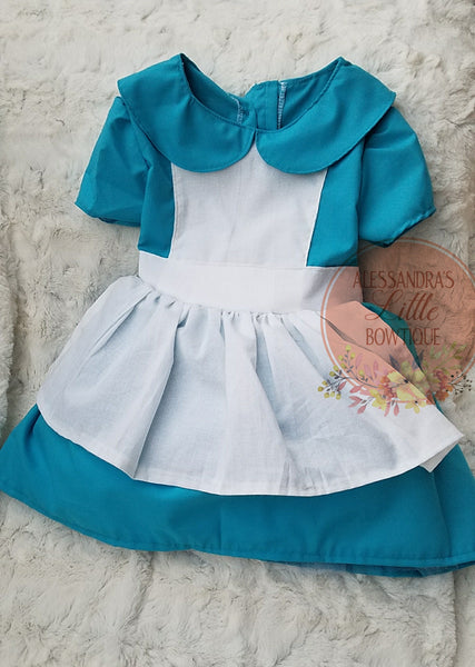 Alice in Wonderland Vintage Dress - AlessandrasLittleBow