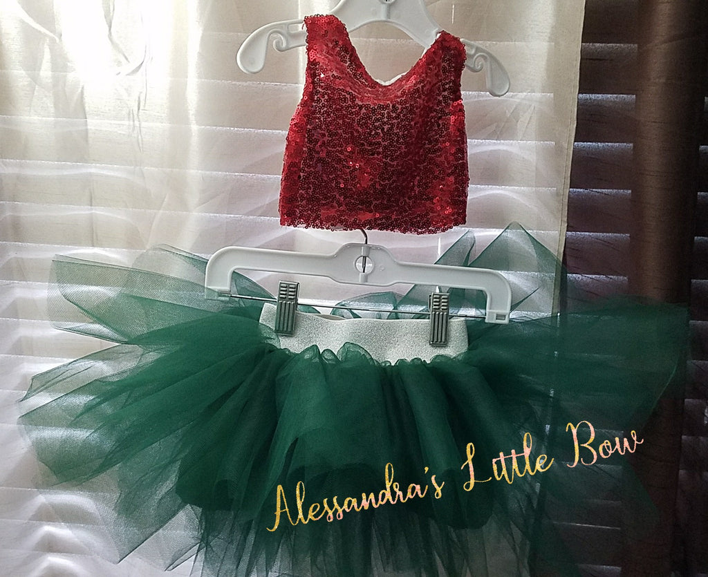 Sequin Top and tutu set - AlessandrasLittleBow