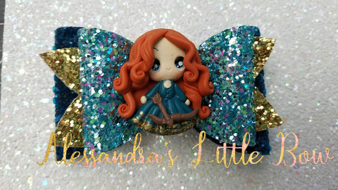 "Merida Clay Bow 3.25"" - AlessandrasLittleBow"