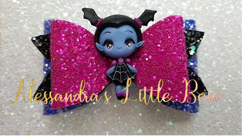 Vampirina Clay Bow 3.25""