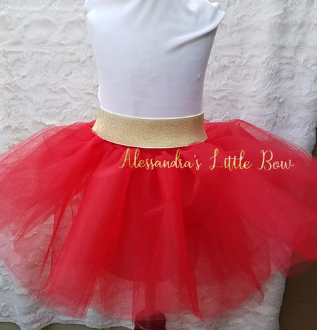 Red Luxury Tutu Skirt - AlessandrasLittleBow