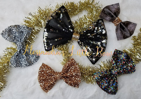 New Year Deluxe bow set - AlessandrasLittleBow