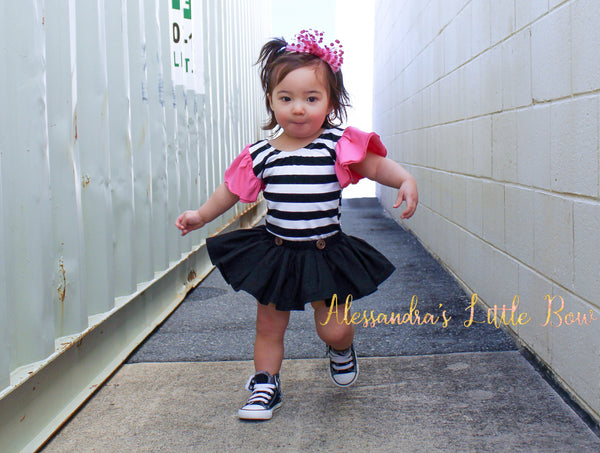 Black skirted Bloomers - AlessandrasLittleBow