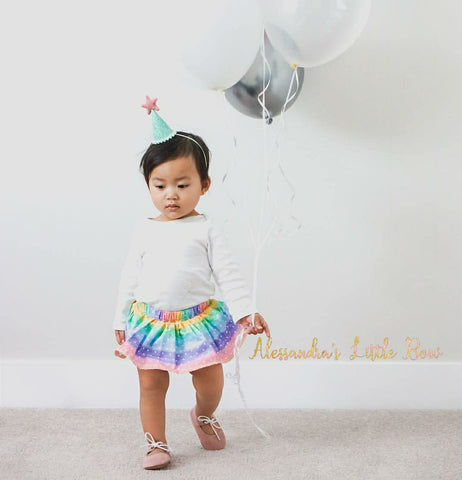 Rainbow Dots Skirted Bloomers - AlessandrasLittleBow