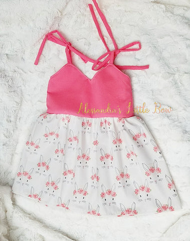 Floral Bunny Swing set or dress - AlessandrasLittleBow
