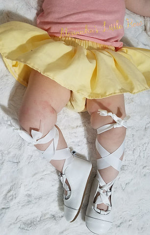 Light Yellow pastel skirted bloomers - AlessandrasLittleBow