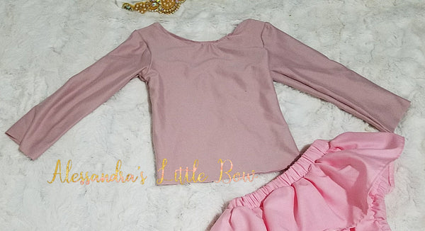 Rose Mauve top - AlessandrasLittleBow
