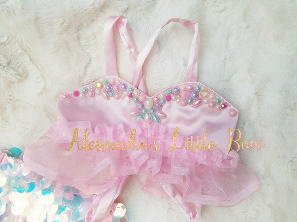Princess Jewel Mermaid Top - AlessandrasLittleBow