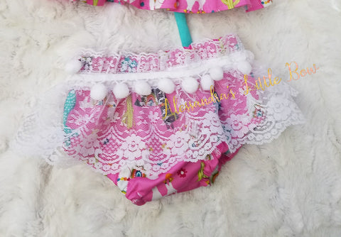 Llama Lace Skirted Bloomers - AlessandrasLittleBow
