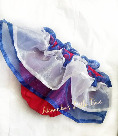 Red, White and Blue double Skirted Bloomers - AlessandrasLittleBow
