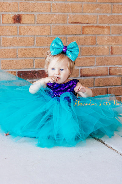 Mermaid Princess dress - AlessandrasLittleBow