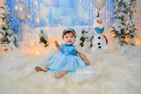 Elsa Luxury Romper with cape - AlessandrasLittleBow