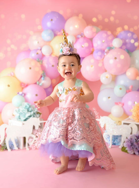 Unicorn Dream High Low Couture Dress - AlessandrasLittleBow