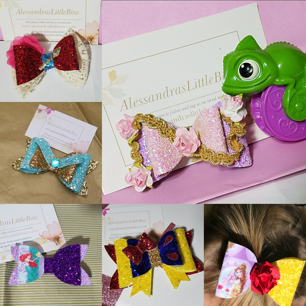 Deluxe Princess Bow Set - AlessandrasLittleBow