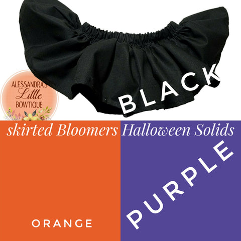 Halloween Solids Skirted Bloomers - AlessandrasLittleBow