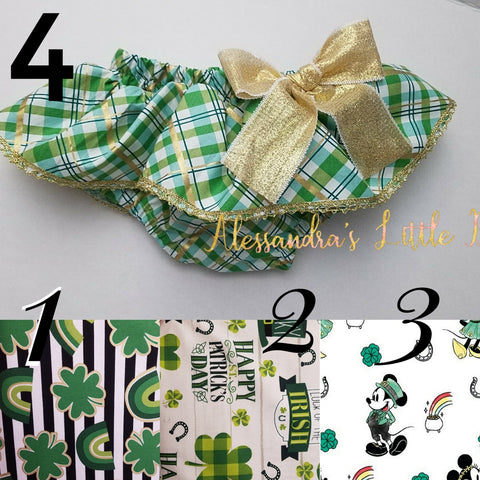 St. Patrick's Skirted Bloomers - AlessandrasLittleBow