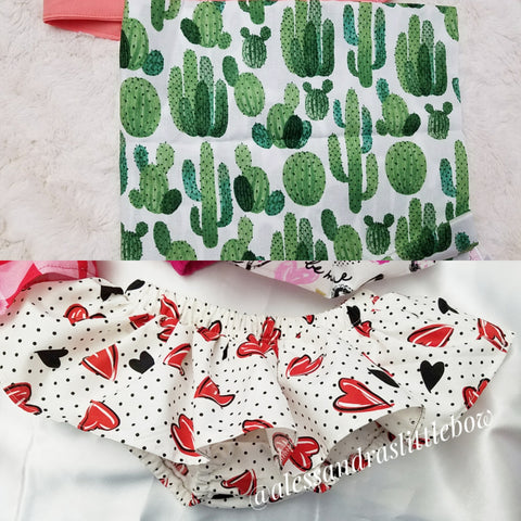 Cactus Skirted Bloomers - AlessandrasLittleBow
